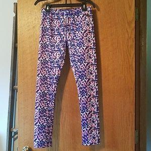 Hurley (juniors size) leggings pink/blue